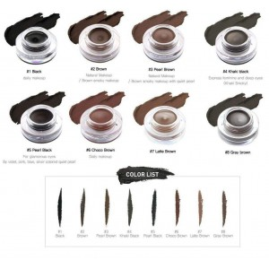 backgel eye liner long brush #06 choco brown