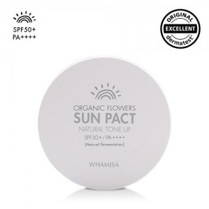 Organic Flowers Sun Pact Spf50 - Natural Tone Up