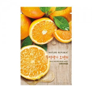 Real Nature Mask Sheet_Orange